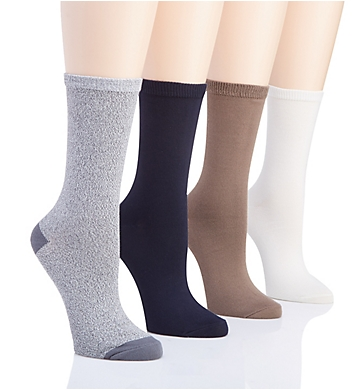 Hue Super Soft Crew Sock - 4 Pack
