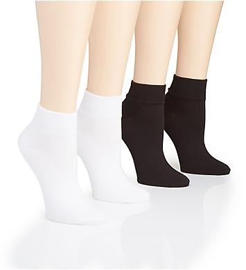 Hue Super Soft Cropped Sock - 4 Pack