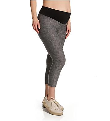 Hue Under Belly Soft Knit Capri Maternity Leggings