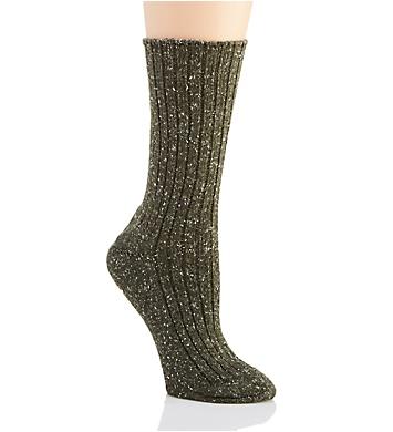 Hue Tweed Ribbed Boot Sock