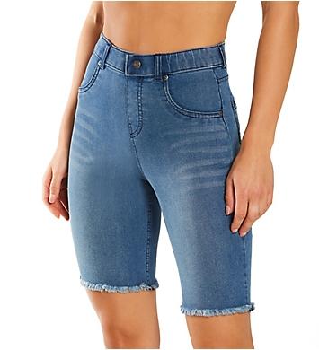 Hue Ultra Soft Denim High Rise Bermuda Shorts