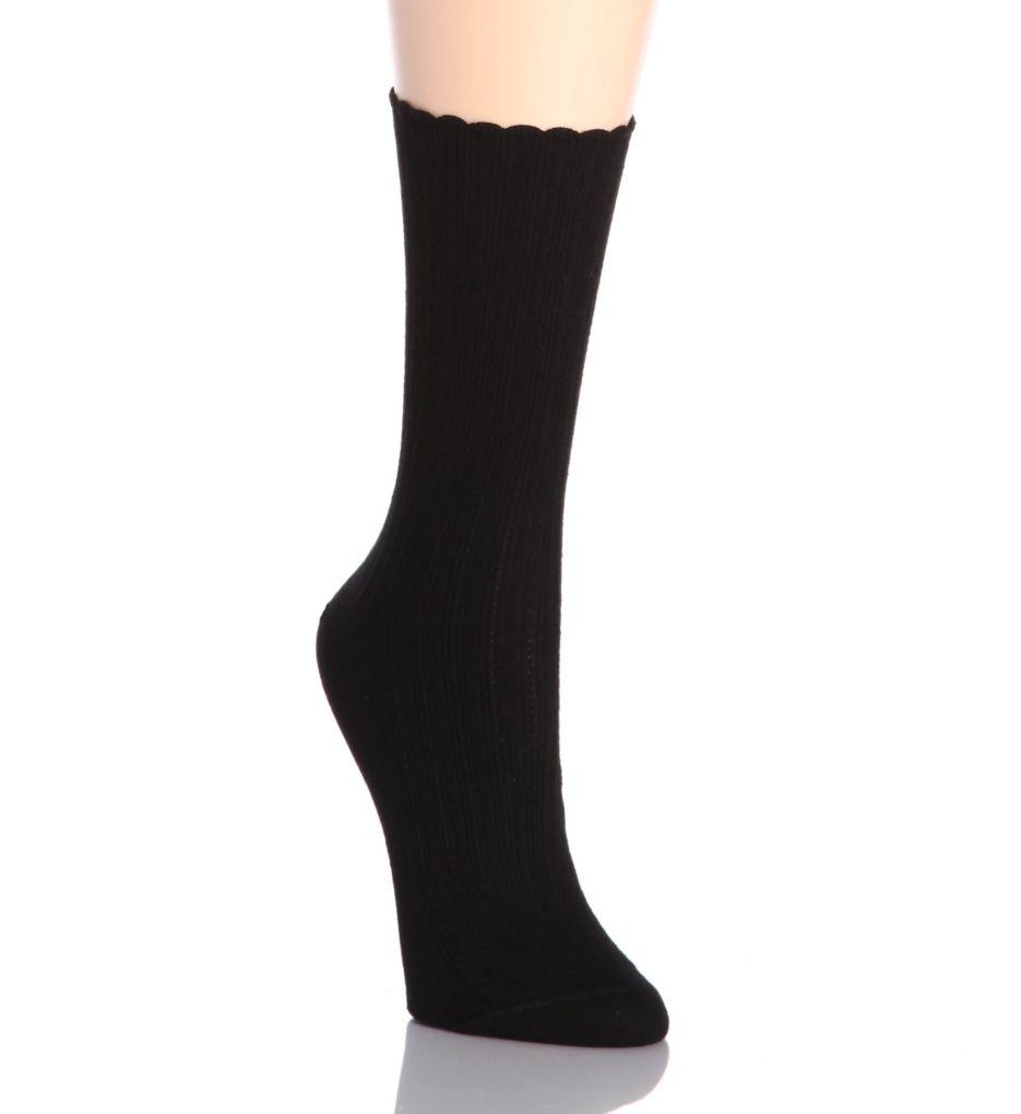 Hue Scalloped Pointelle Sock