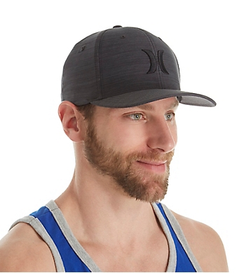 Hurley Black Textures Flexfit Hat