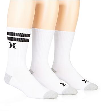 Hurley Half Terry Logo Crew Sock - 3 Pack