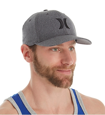 Hurley Black Suits Outline Flexfit Hat