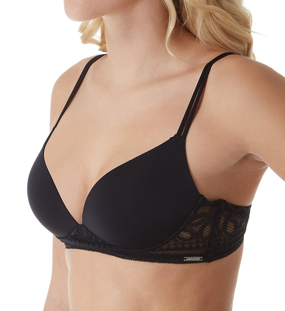 Implicite - Implicite 20F240 Infinity Wireless Push Up Bra (Black 32A)