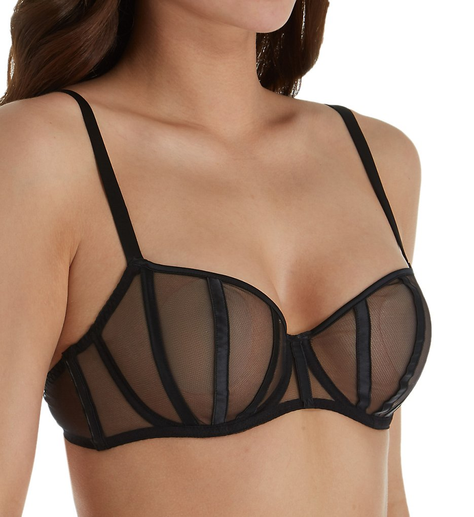 Implicite - Implicite 23B330 Talisman Sheer Demi Bra (Black 32B)