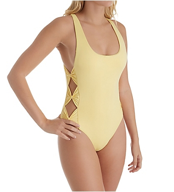 Isabella Rose Bow Tie High Leg One Piece Swimsuit