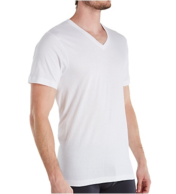 Izod Essentials Cotton V-Neck T-Shirts - 5 Pack