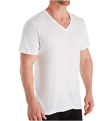 Izod 100% Cotton V-Neck T-Shirt - 4 Pack