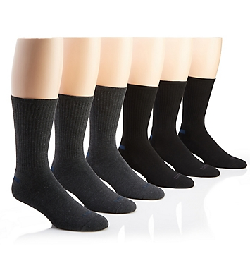 Izod Athletic Crew Socks - 6 Pack