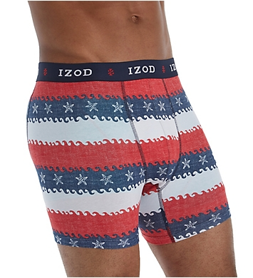 Izod Saltwater Cotton Stretch Boxer Briefs - 3 Pack