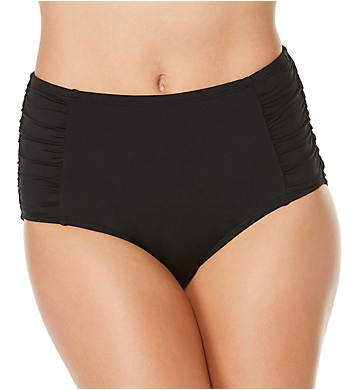 Jantzen Solid High Waist Brief Swim Bottom