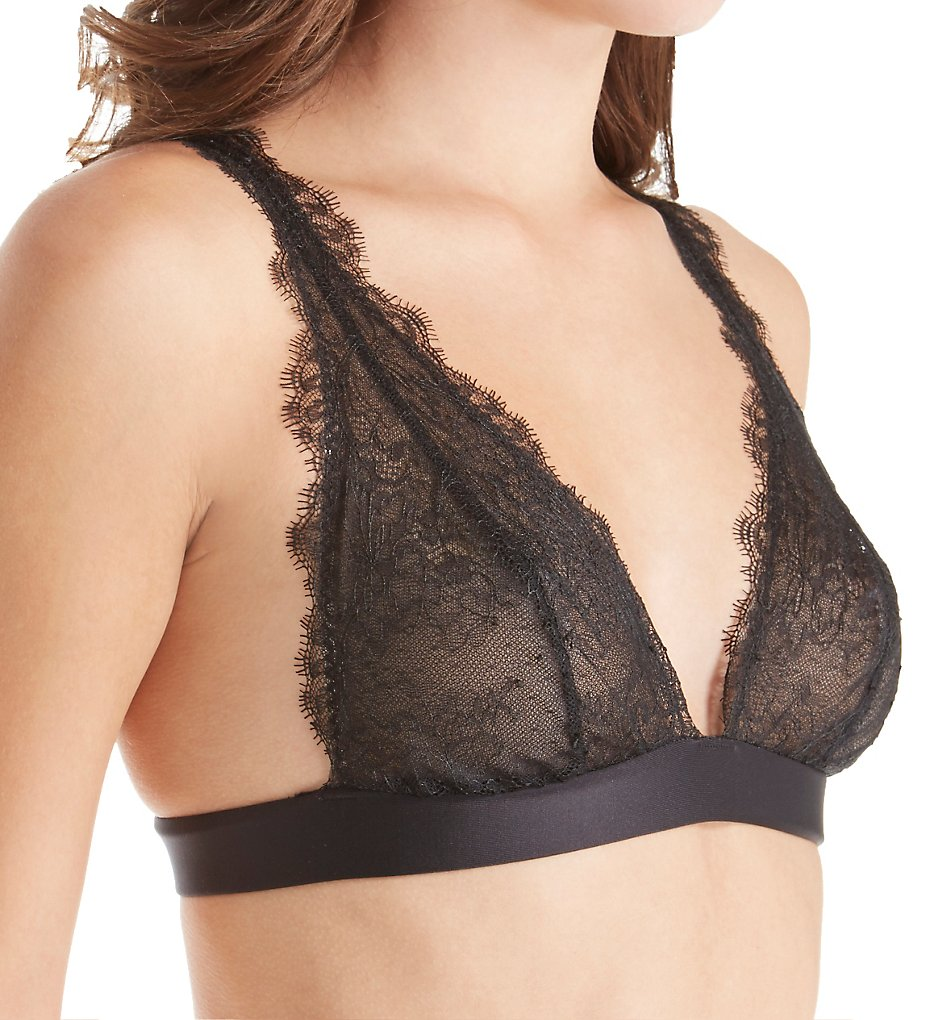 Jezebel - Jezebel 18042 Pandora Chantilly Lace Triangle Bra (Black S)