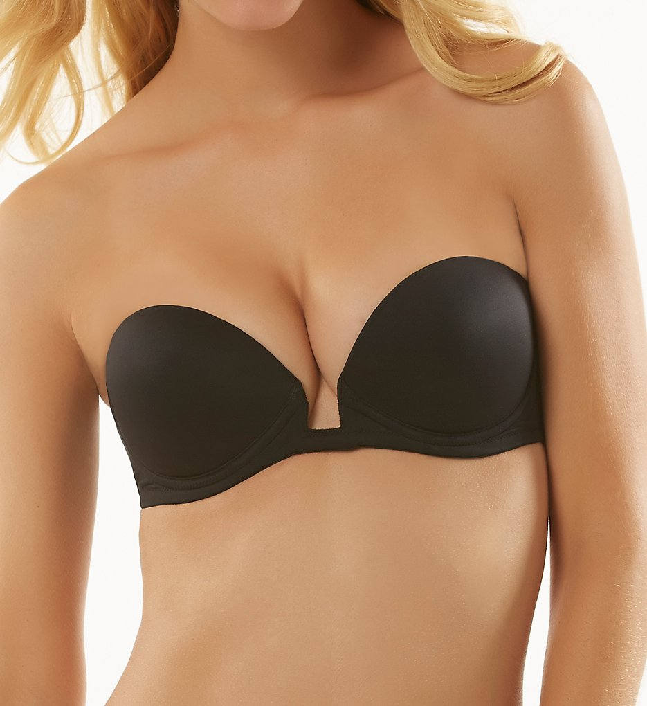 Jezebel : Jezebel 22533 Caress Seamless Strapless Bra (Black 32B)