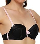 Indulge Woven Satin with Lace Trim Push-up Bra