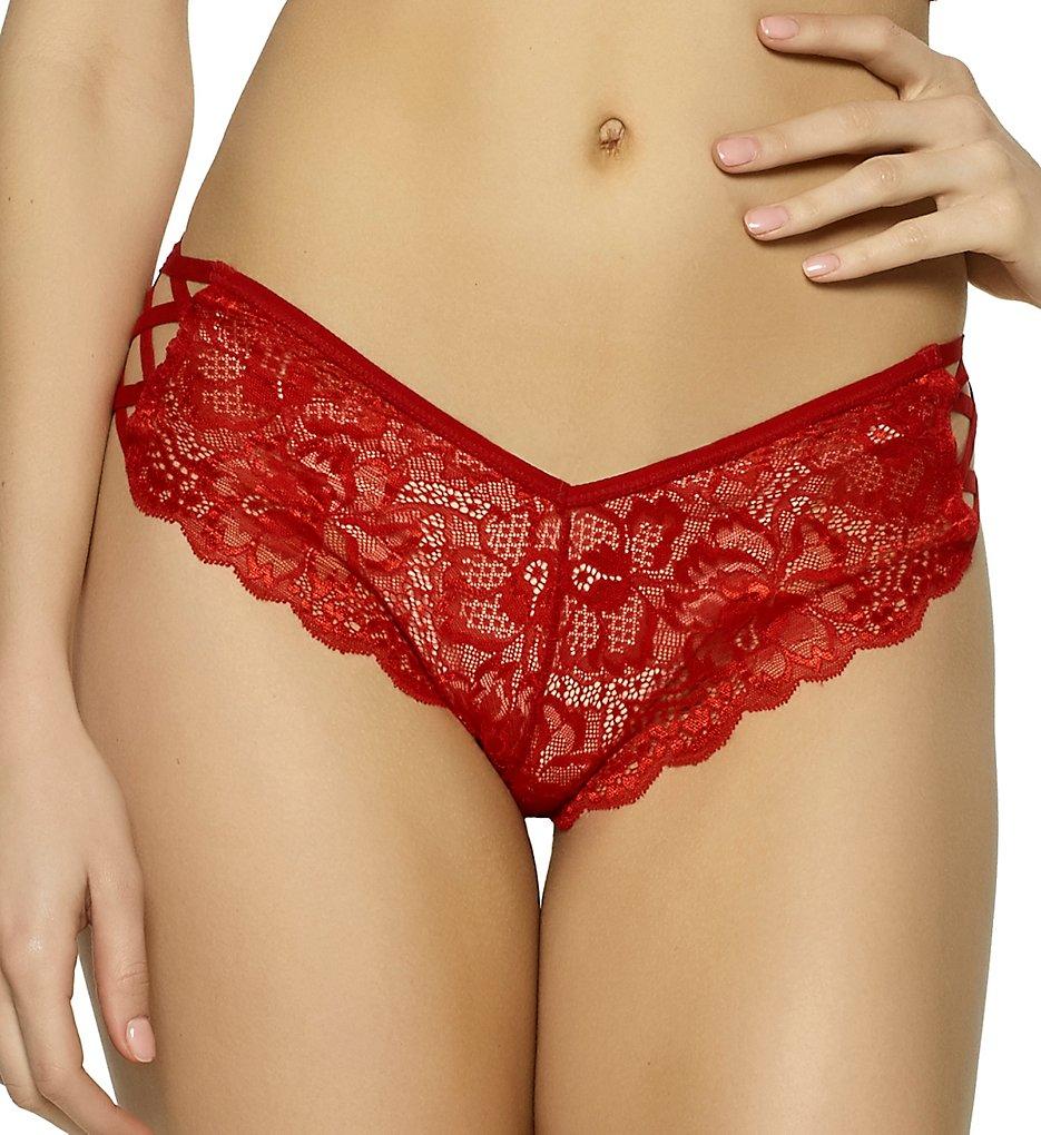 Jezebel - Jezebel 73057 Angel Strappy Lace Hipster Panty (Red S)