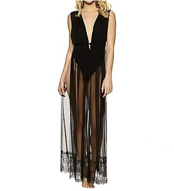 Jezebel Long Mesh Dressing Gown