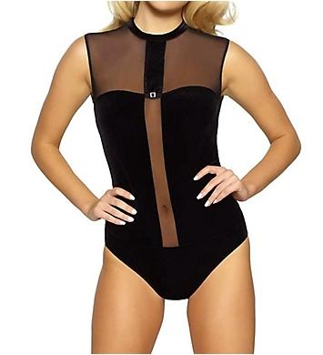 Jezebel Grace Velvet Sheer Bodysuit