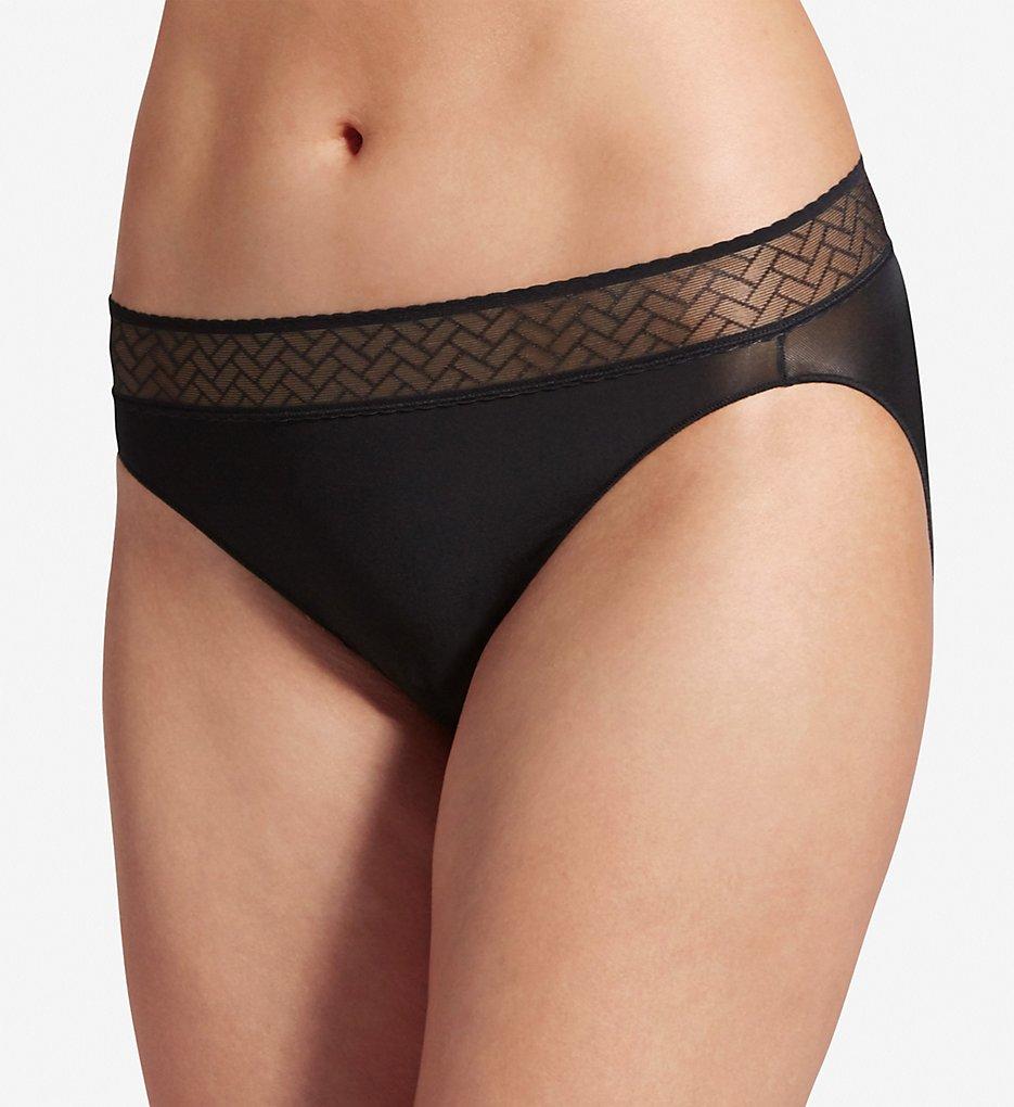 Jockey : Jockey 1347 Wide Waist Lace Bikini Panty (Black 5)
