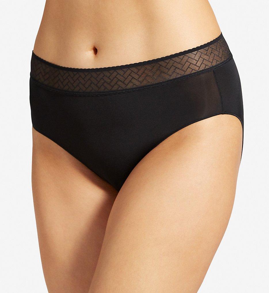 Jockey : Jockey 1348 Wide Waist Lace Hipster Panty (Black 5)