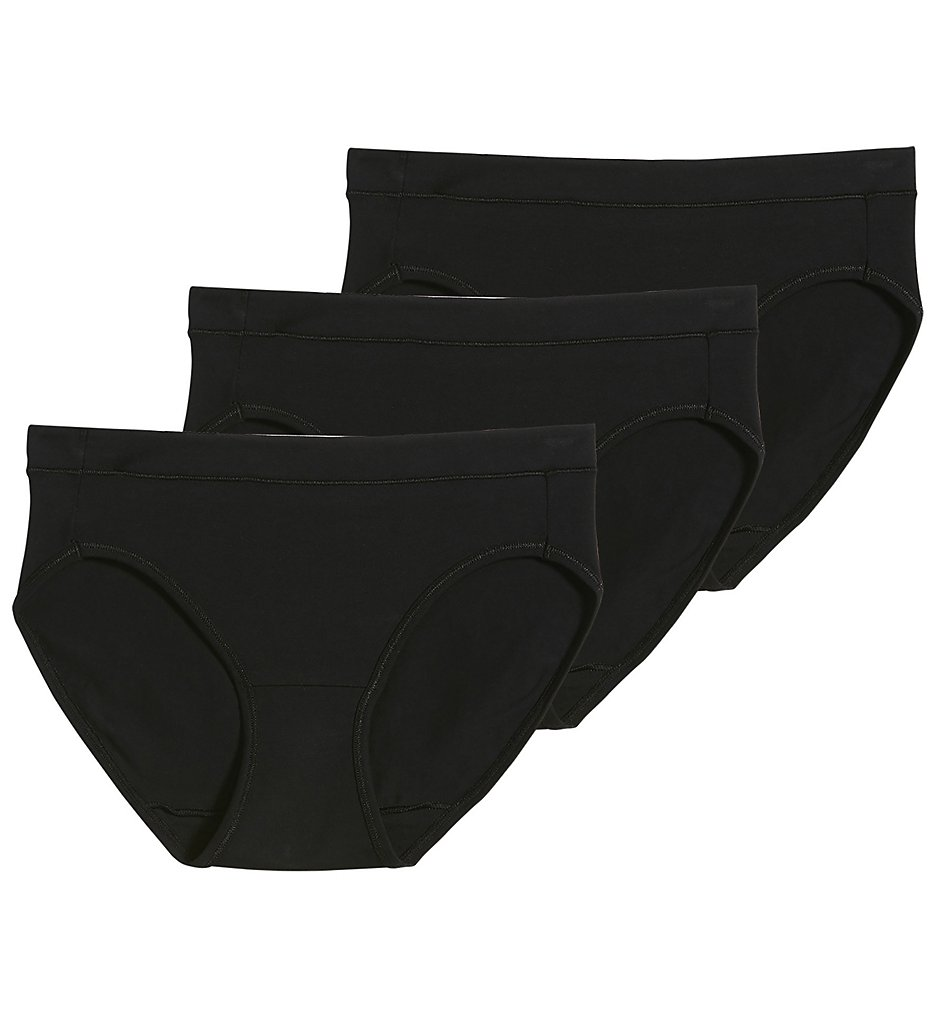 Jockey - Jockey 1550 Modern Cotton Stretch Bikini Panty - 3 Pack (Black 7)