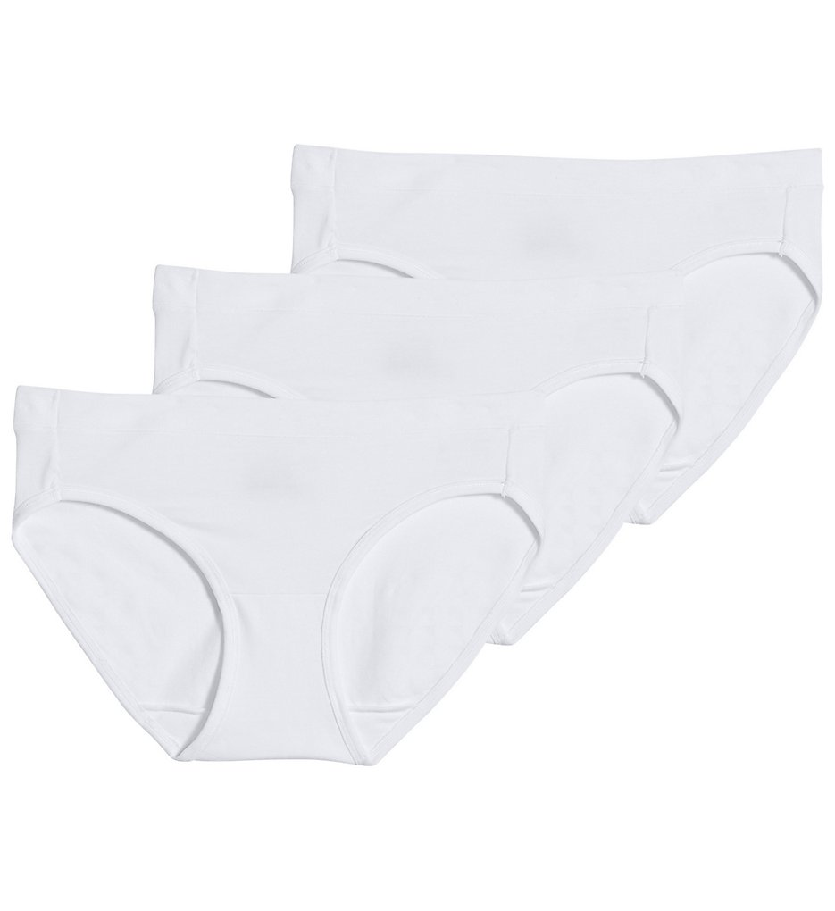 Jockey - Jockey 1550 Modern Cotton Stretch Bikini Panty - 3 Pack (White 8)