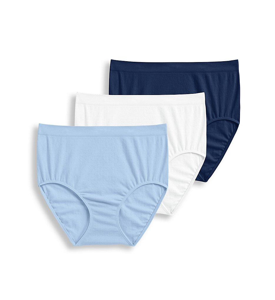 Jockey - Jockey 1681 Seamfree Breathe Brief Panty - 3 Pack (Blue/White/Midnight 6)