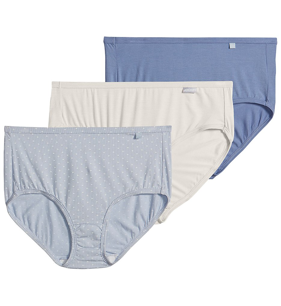 Jockey >> Jockey 2072 Elance Supersoft Classic Hipster Panty - 3 Pack (Raining Polka Dot 5)