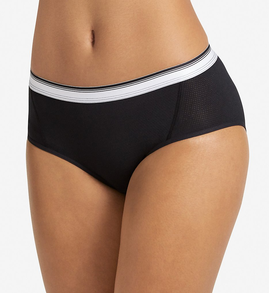 Jockey - Jockey 2196 Sporties Mesh Hipster Panty (Black 7)