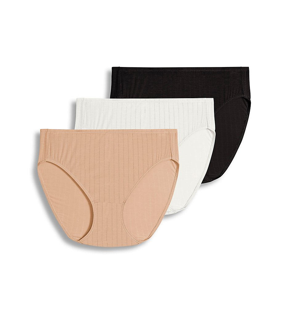 Jockey >> Jockey 2371 Supersoft Breathe French Cut Panty - 3 Pack (Black/Light/Ivory 5)