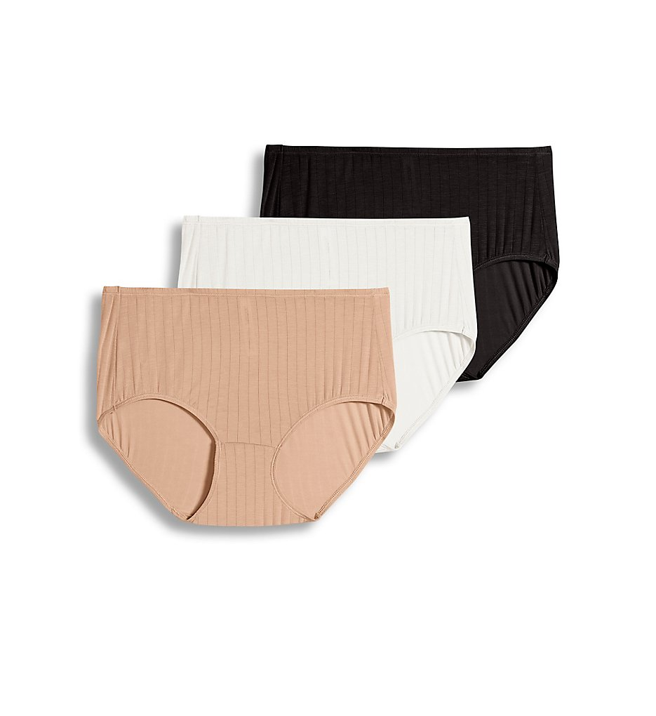 Jockey >> Jockey 2373 Supersoft Breathe Classic Fit Brief Panty - 3 Pack (Black/Light/Ivory 5)