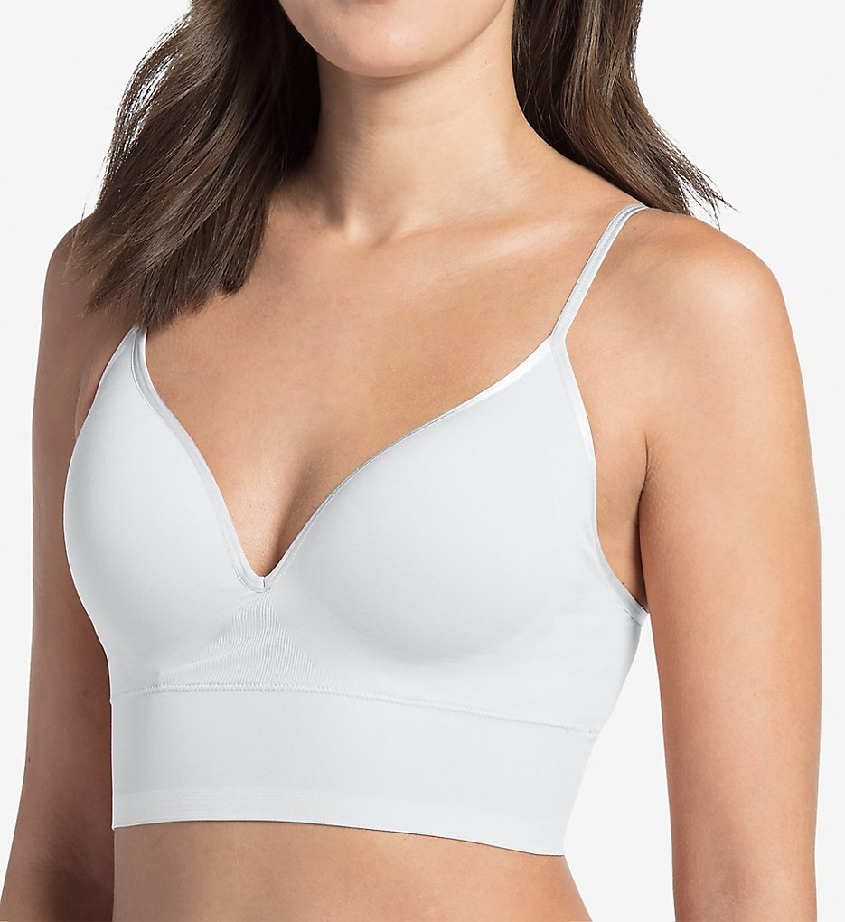 Jockey >> Jockey 2455 Natural Beauty Seamfree Micro Lined Bralette (White S)