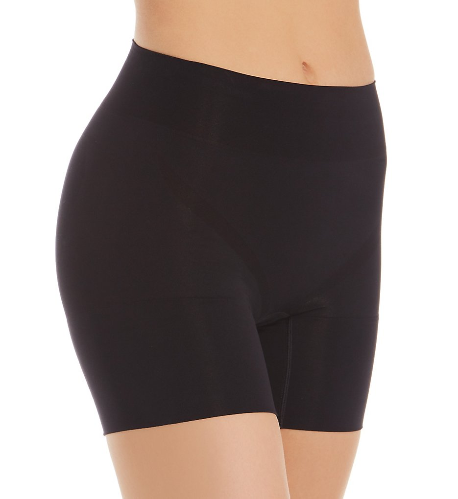 Jockey - Jockey 4238 Slimmers Breathe Mid Rise Mid Length Short Panty (Black S)