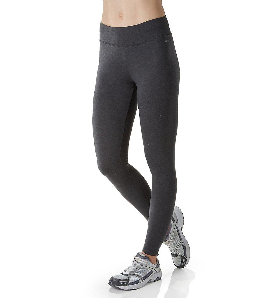 Jockey 7223 Core Body Basics Ankle Legging with Wide Waistband (Charcoal Heather)