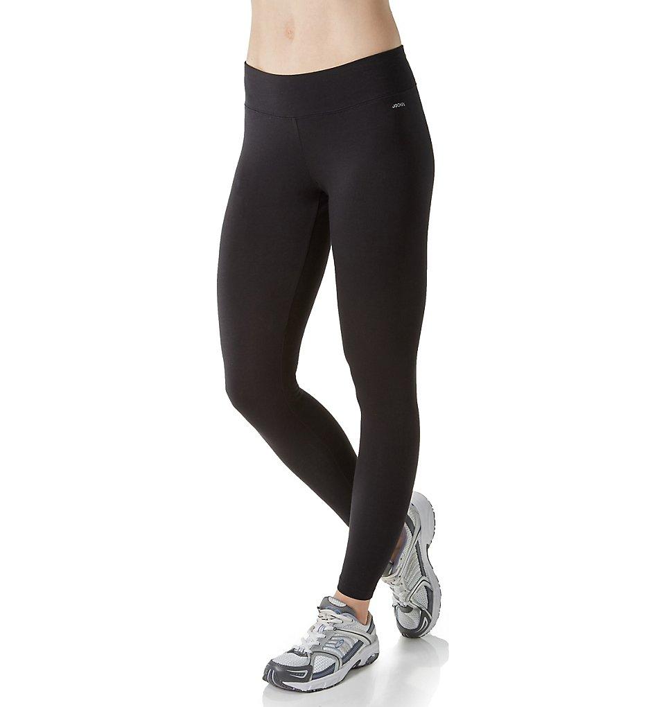 Jockey 7223 Core Body Basics Ankle Legging with Wide Waistband (Deep Black)