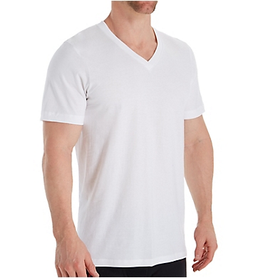 Jockey Classic Fit 100% Cotton V-Neck T-Shirts - 6 Pack