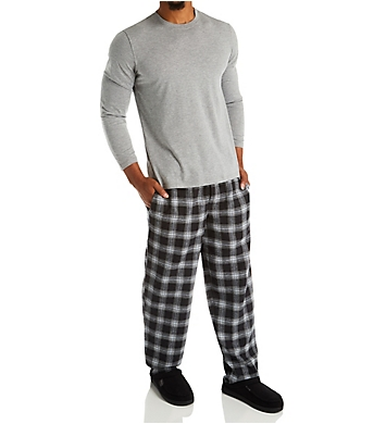 Jockey Flannel Pant With Jersey Top Sleep Set