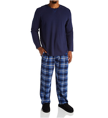Jockey Flannel Pant With Waffle Top Sleep Set