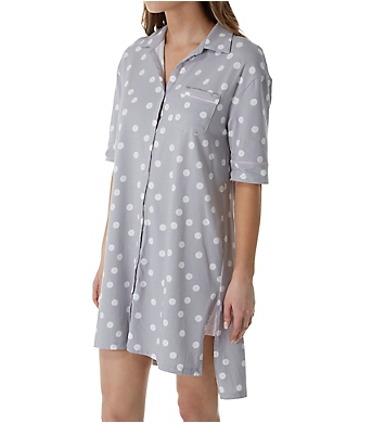Jockey Sleepwear Love that Lasts Boyfriend Button Front Sleepshirt
