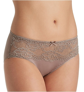 Jones New York Lace Front Panel Hi Cut Brief Panty