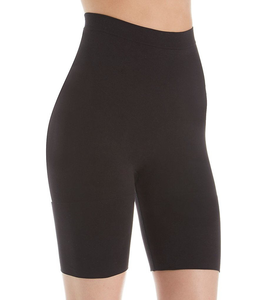 Jones New York - Jones New York 712175 Seamless Shapewear Brief Thigh Slimmer (Black S)