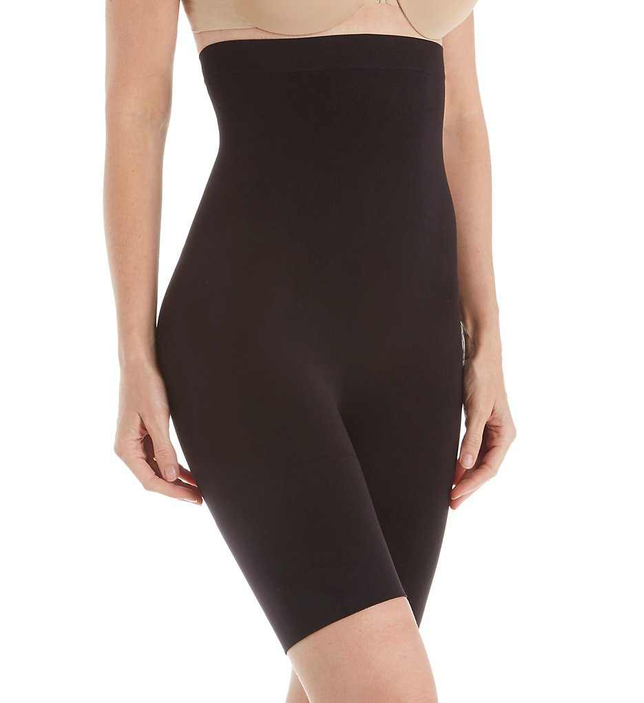 Jones New York - Jones New York 712195 Seamless Shapewear High-Waist Brief Thigh Slimmer (Black S)