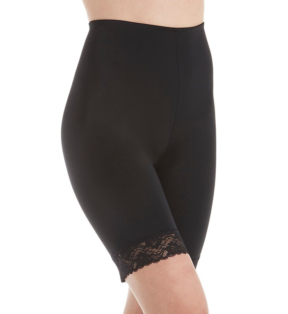 Jones New York - Jones New York 785175 Lace Shapewear Tummy Control Thigh Slimmer (Black S)
