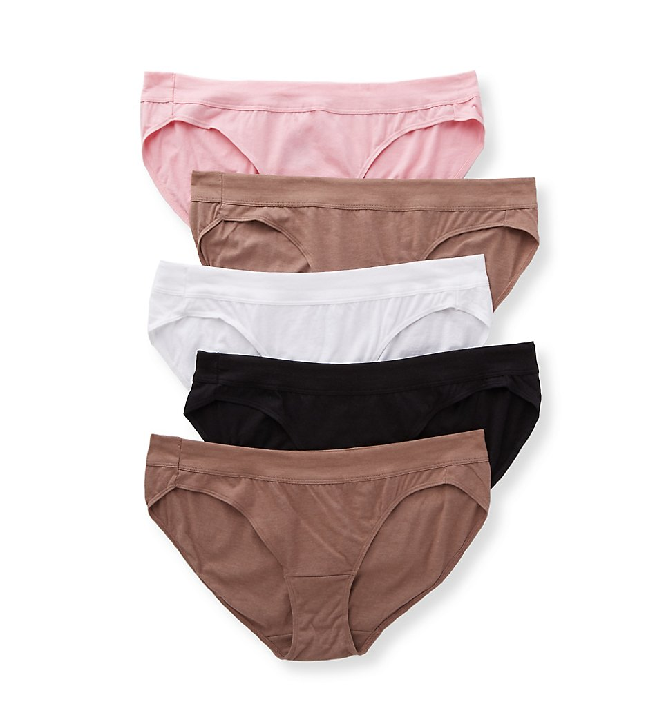 Just My Size - Just My Size 1412C5 Cool Comfort Pure Bliss Bikini Panty - 5 Pack (Assorted 9)