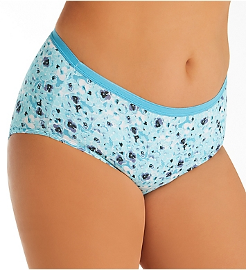 Just My Size Cool Comfort Cotton Brief Panty - 10 Pack