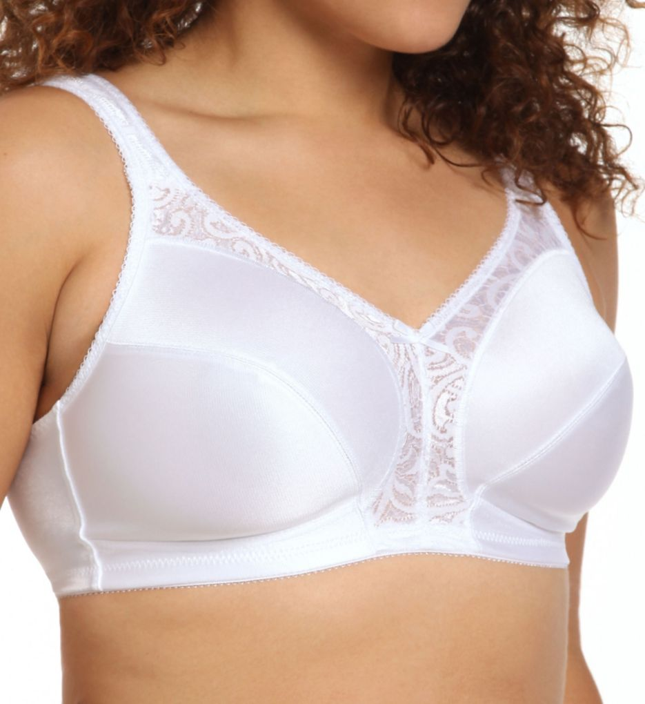 Just My Size Comfort Strap Lace Wirefree Minimizer Bra