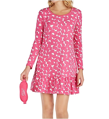 Kate Spade New York Gifty Sleepshirt with Matching Eyemask