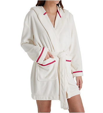 Kate Spade New York Wink Wink Plush Fleece Short Robe