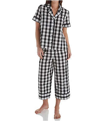 Kate Spade New York Summer Check Cropped PJ Set